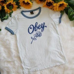 Obey Careless Whispers Sky Ringer T-Shirt